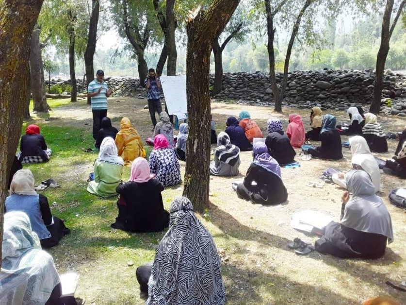 Open-air community classes in remote J&K villages
